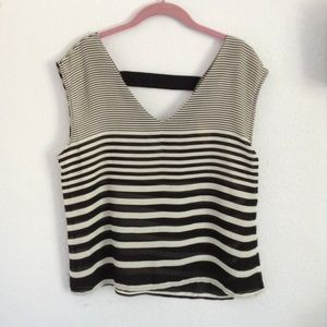 Forever 21 sheer striped blouse